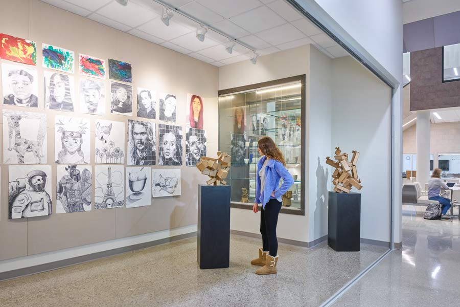 Olathe West High School: Learning On Display | Hollis+Miller